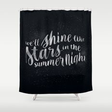 Shine Like Stars - Summer Shower Curtain