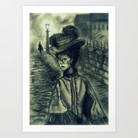 Whitechapel by Gaslight (First Version) Art Print