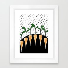 Eat Carrots Framed Art Print