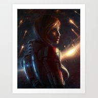 Mass Effect - Commander … Art Print