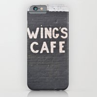 iPhone & iPod Case featuring wings cafe by LeoTheGreat