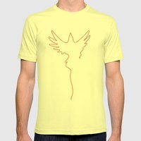 Yarning To Be Free Mens Fitted Tee Lemon SMALL
