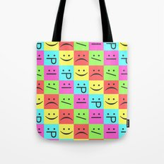 Smiley Chess Board Tote Bag
