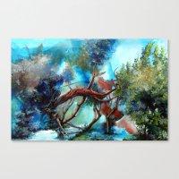 Yeri Kucaklayan Renkler Canvas Print