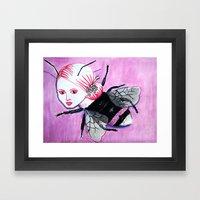 Bee Linda Framed Art Print
