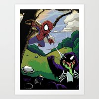 Kid Spidey Art Print