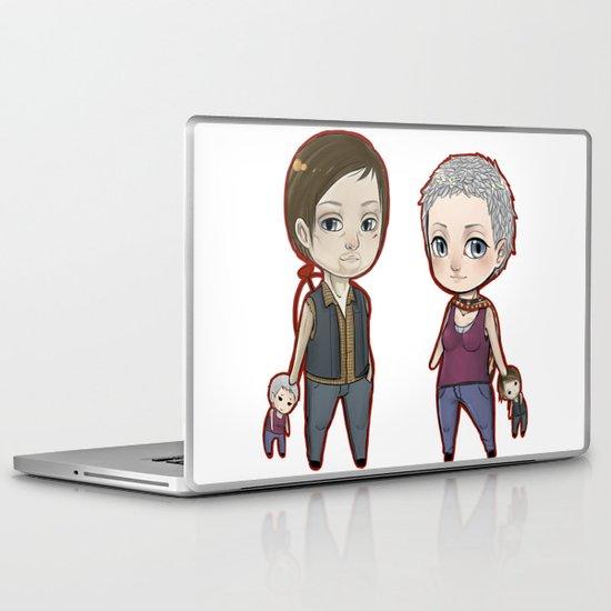 Carol/Daryl Chibis The Walking Dead Laptop & iPad Skin
