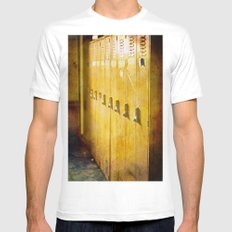 Old Orange Lockers Mens Fitted Tee White SMALL