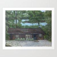 Cabin In The Wood Art Print