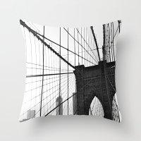 Brooklyn Bridge II  Throw Pillow
