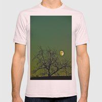 Tangled Tree Moon Mens Fitted Tee Light Pink SMALL