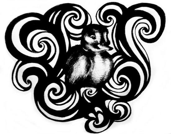 Baby Duck Art Print