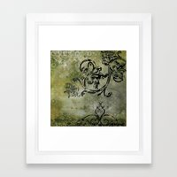 Green Patterns Framed Art Print