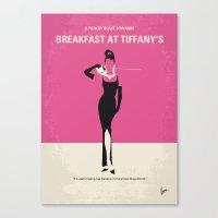 No204 My Breakfast at Tiffanys minimal movie poster Canvas Print