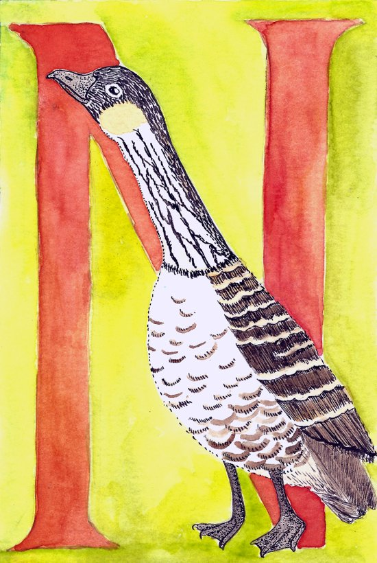 N is for Nene Art Print