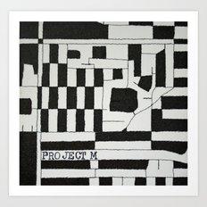 Black & White Map Art Print