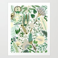 Green Flower Fantasy  Art Print