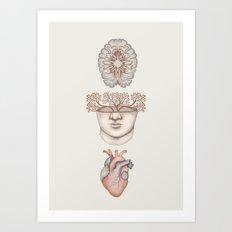 Body, Mind, Soul Art Print