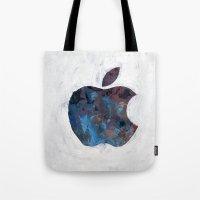 Painted Apple Tote Bag