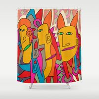 - rabbits - Shower Curtain