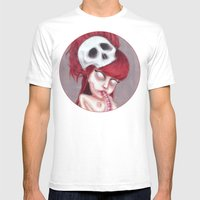 Blurry Red Vision Mens Fitted Tee White SMALL