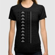 Modern Black 2 Womens Fitted Tee Tri-Black X-LARGE