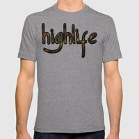 highlife Mens Fitted Tee Athletic Grey SMALL