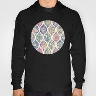 Patterned & Painted Flor… Hoody