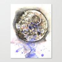 Star Wars Art Painting The Death Star Canvas Print