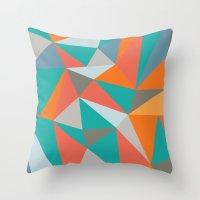 Summer Deconstructed Throw Pillow