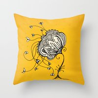 lonely mind  Throw Pillow