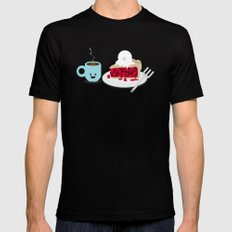 Coffee and Pie Black Mens Fitted Tee SMALL