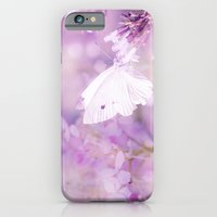 Butterfly :: White Violet iPhone 6 Slim Case