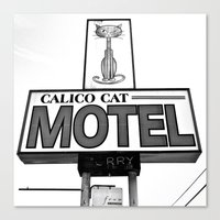 Cool Cat Motel Canvas Print