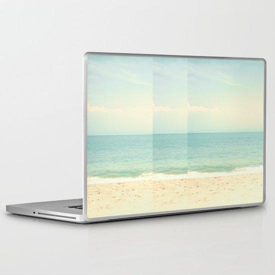 Pastel Retro Beach  Laptop & iPad Skin