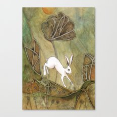 Hare with Standing Stones Canvas Print