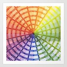 Rainbow maze Art Print