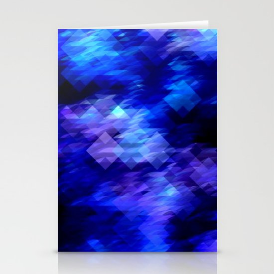 Anemone Wave Pixel Stationery Card