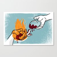 Satan Possesses Judas (by Shed Labs) Canvas Print