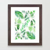 Leaf Tropical Pattern  Framed Art Print