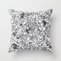 Mushmania Throw Pillow
