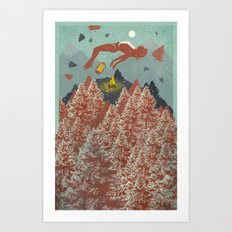 FLOATING FOREST Art Print