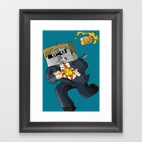 Solaire Of Block - Minec… Framed Art Print