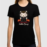 Hello Boys Womens Fitted Tee Black SMALL