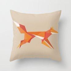 Fractal geometric fox Throw Pillow