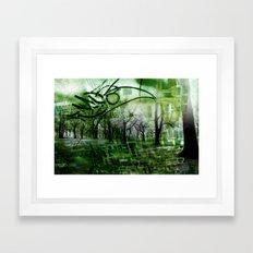 Retrollage 2.. Framed Art Print
