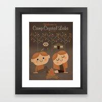 welcome to camp crystal lake Framed Art Print