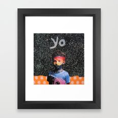 yo Framed Art Print