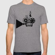 Cinema Paradiso Mens Fitted Tee Tri-Grey SMALL