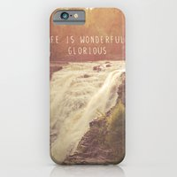 iPhone & iPod Case featuring wonderful waterfalls by lissalaine